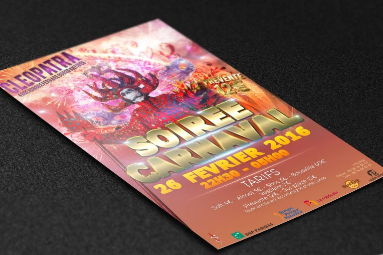 FLYER SOIREE CARNAVAL