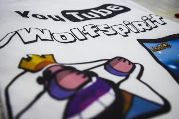 T-SHIRT WOLFSPIRIT YOUTUBE CLASH ROYALE